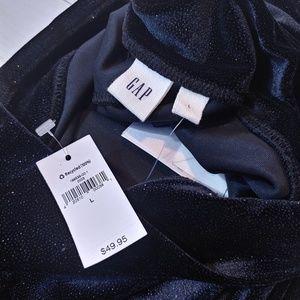 GAP Pants - GAP Sparkling Black Velvet Leggings Glitter Large